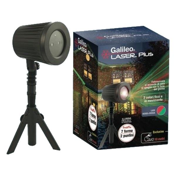 Proiettoere laser Plus luci natalizie 7 forme da esterno