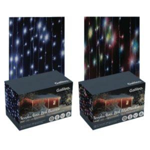 Tenda luci led da esterno 600 led cavo cm 400 x 90 for Luci a led esterno