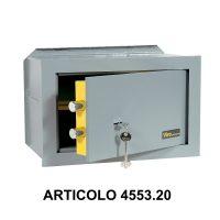 Cassaforte a muro orizzontale con apertura meccanica modello casasicura 455320