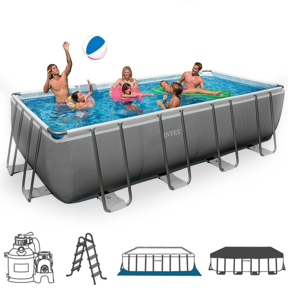 Piscina fuori terra rettangolare intex 26352 cm 549 x 274 for Intex piscine catalogo