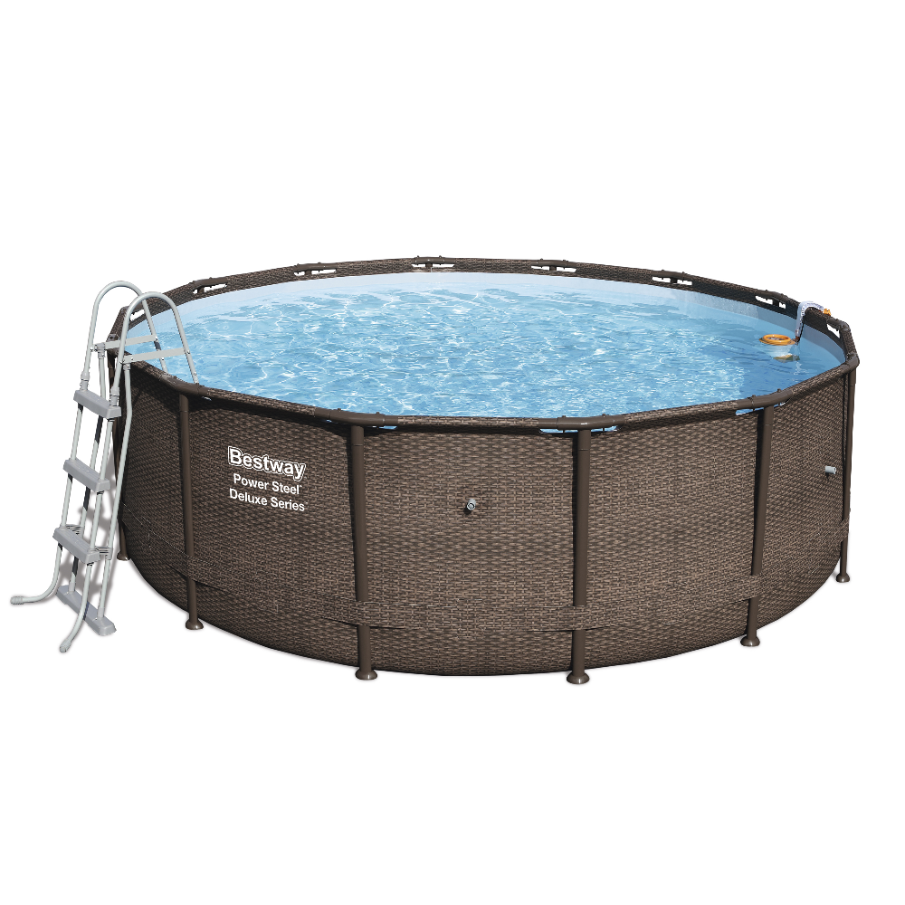 Piscina fuori terra rotonda bestway 56664 ferramenta for Piscine fuori terra best way
