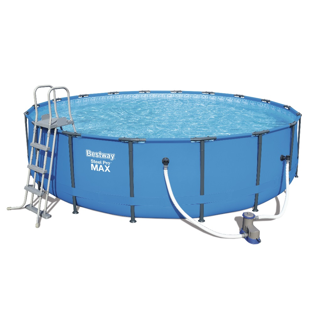 Piscina fuori terra rotonda bestway 56462 cm 549 x 122 for Piscine fuori terra best way