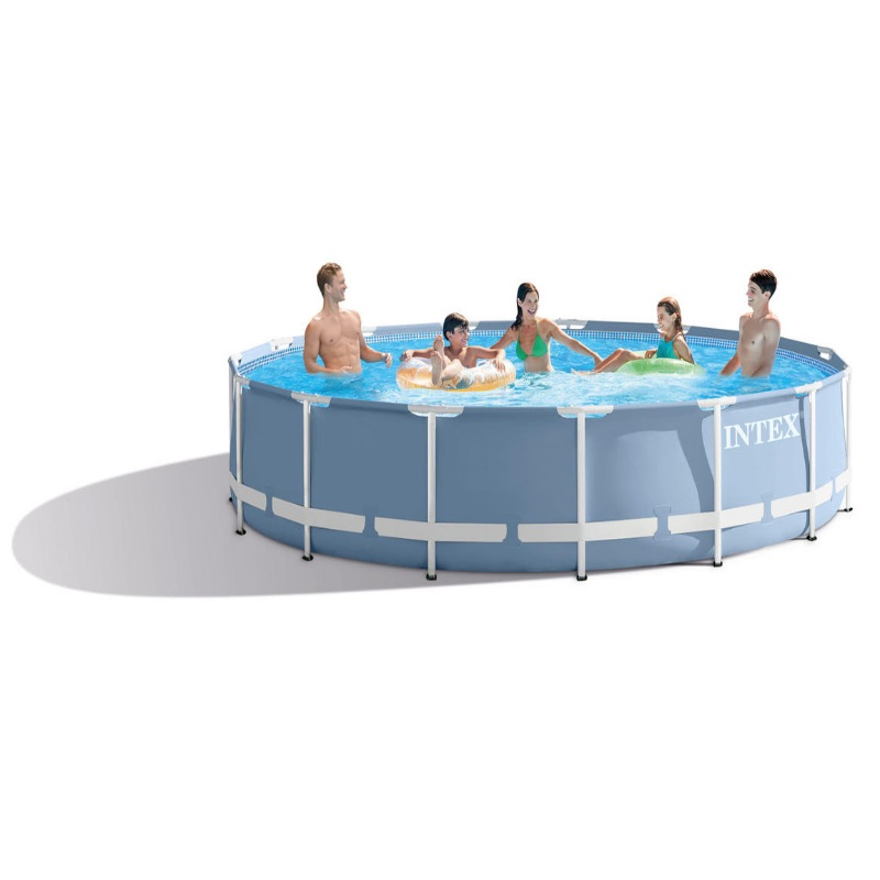 Piscina fuori terra rotonda intex 26728 cm 457 x 84 for Piscina intex rotonda
