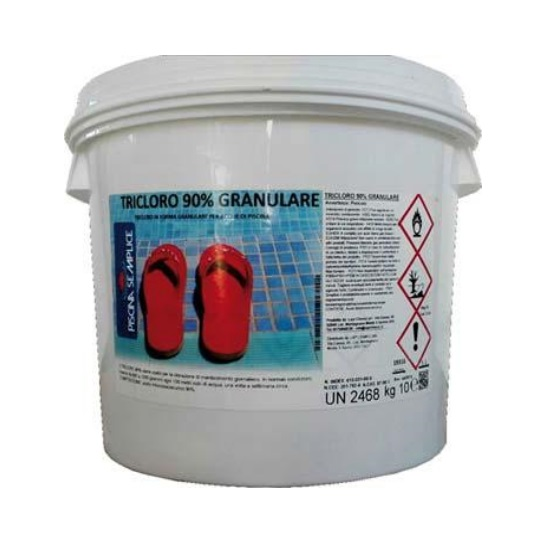 Tricloro 90% in polvere per trattamento acqua piscine Kg.10