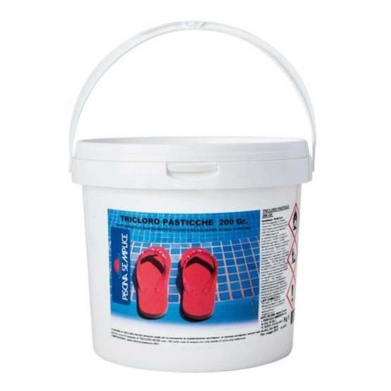 Tricloro per trattamento acque piscine 25 pasticche da 200 gr.