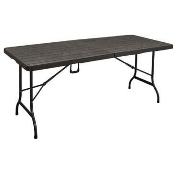 Tavoli In Resina Pieghevoli.Tavolo Pieghevole Rettangolare Wood Cm 180 L X 75 P X 74 A