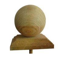 Copripali legno euro con sfera
