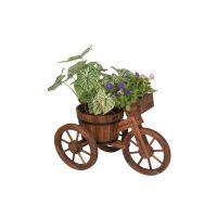 Fioriera triciclo in legno asia