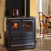 Cucina a legna Termosovrana 13,5 Kw Antracite