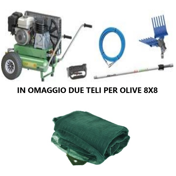 """Scuotitore Pneumatico """"Ener-Comp 55 KIT 2"""" con doppio serbatoio e Motore Honda Gp 160 By Minelli"""