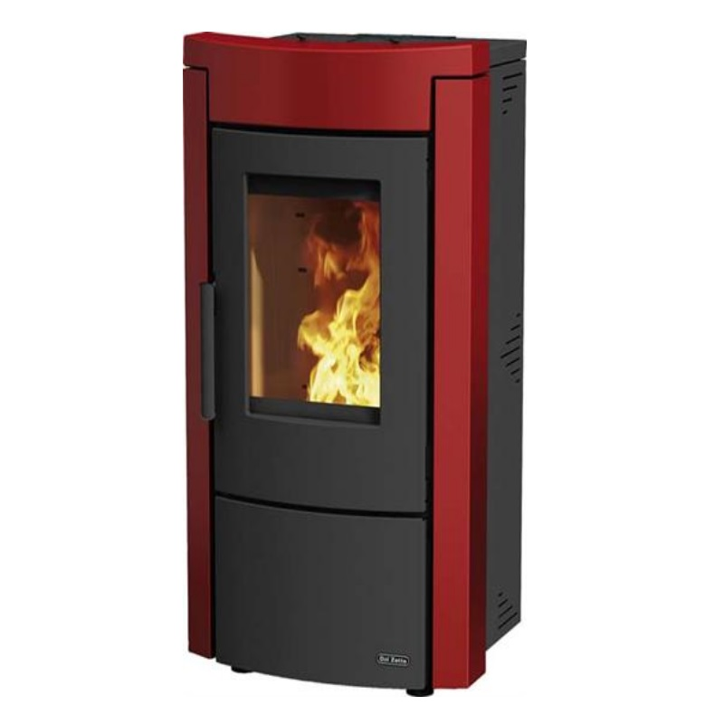 Termostufa a pellet Wanna Idro 13 Kw Bordeaux