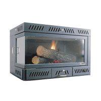 Inserto a legna termoventilato ECOSYSTEM 85 LATERALE