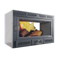 Inserto a legna termoventilato ECOSYSTEM 85 PASSANTE