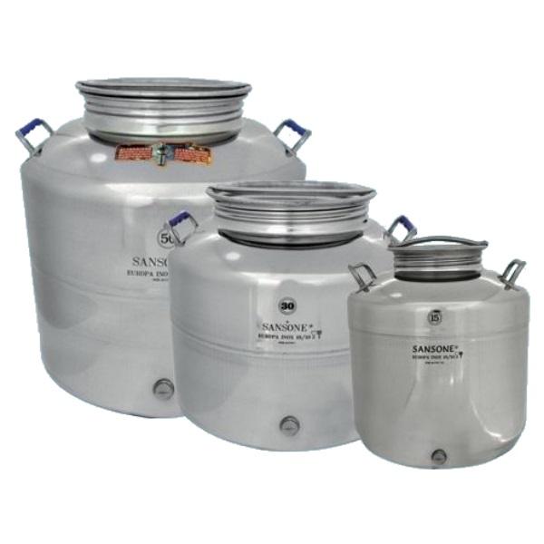 Fusto olio in acciaio inox Sansone lt.15