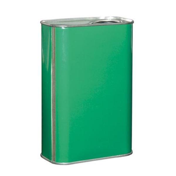 Lattina verde anonimo 1 litri rettangolare