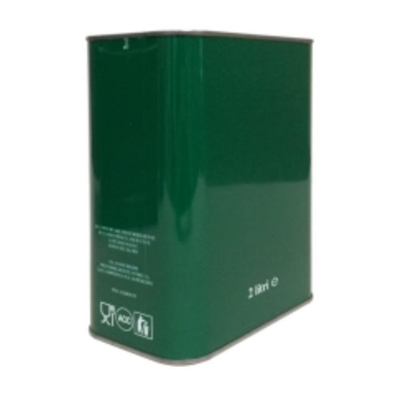 Lattina verde anonimo 2 litri rettangolare