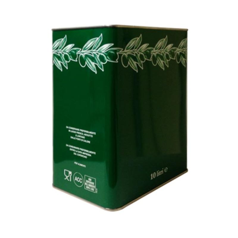 Lattina verde con ramoscello 10 litri rettangolare
