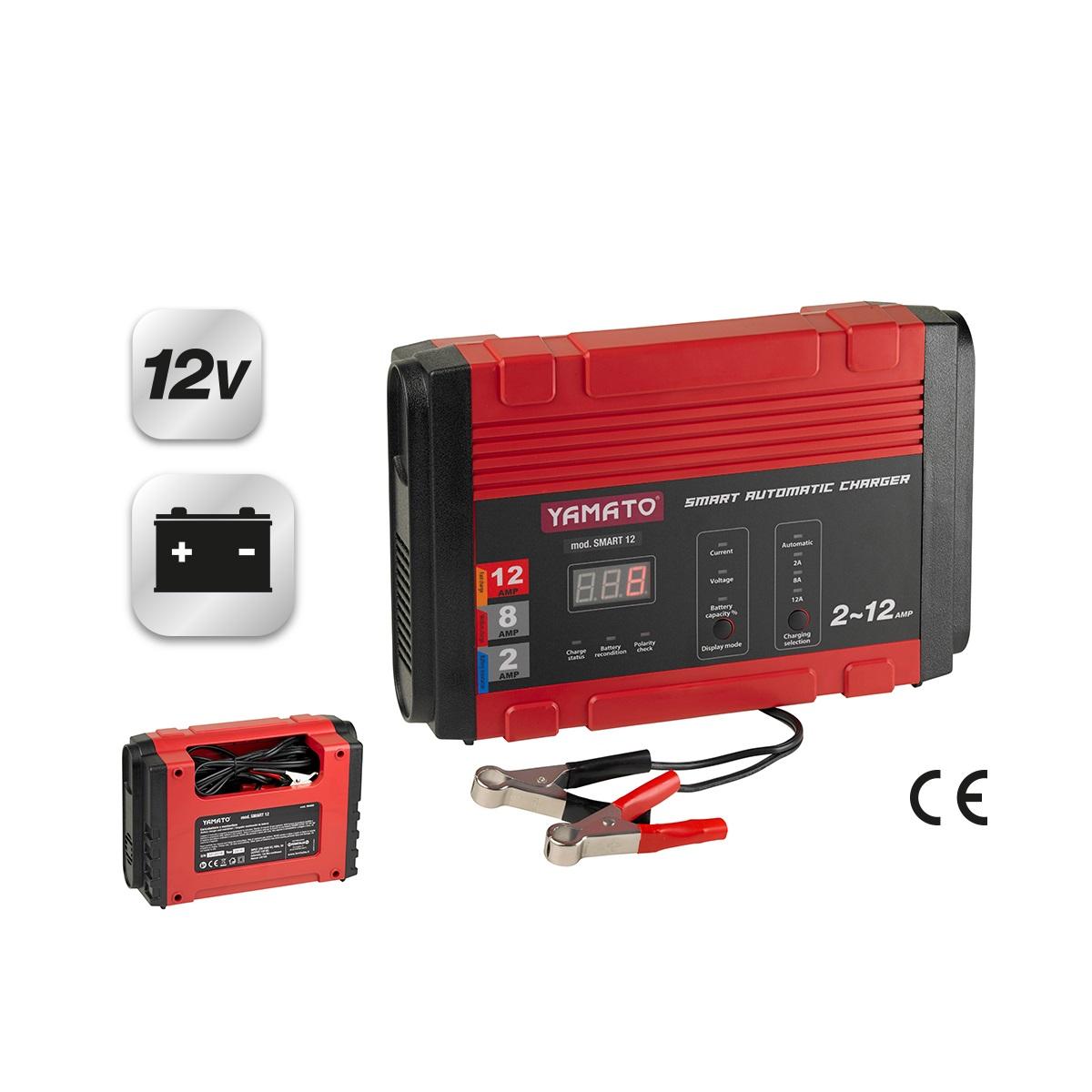 caricabatterie e mantenitore smart 12 yamato