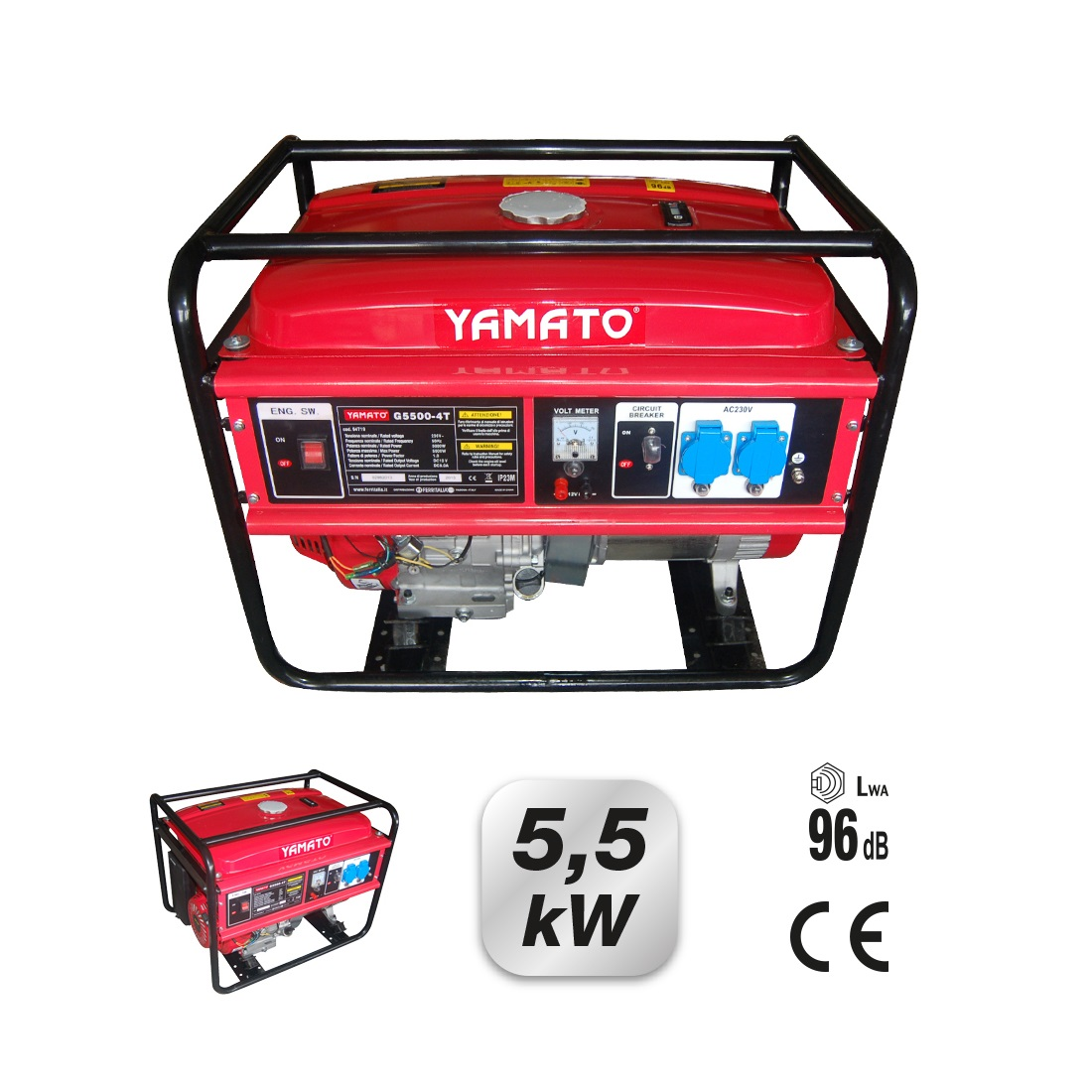 motogeneratore yamato mod g5500 4t