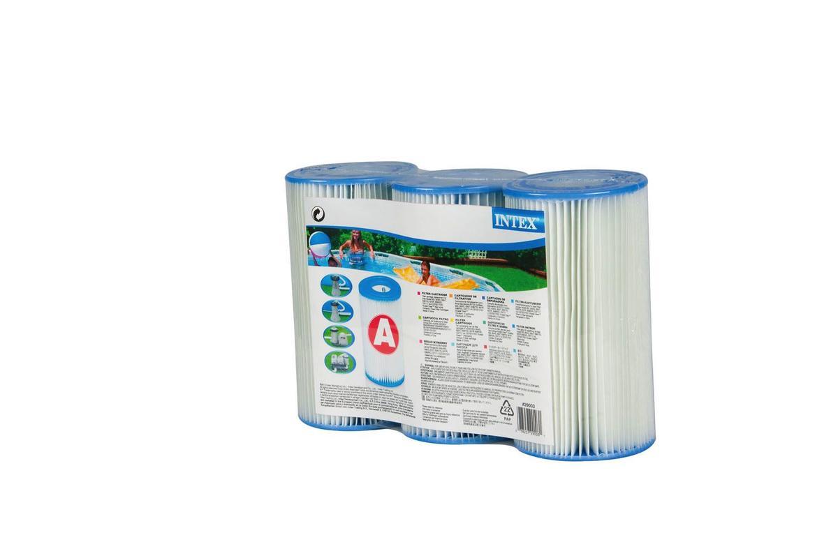 """INTEX 29003 Cartuccia filtro media modello """"a"""" confezione da tre pezzi"""