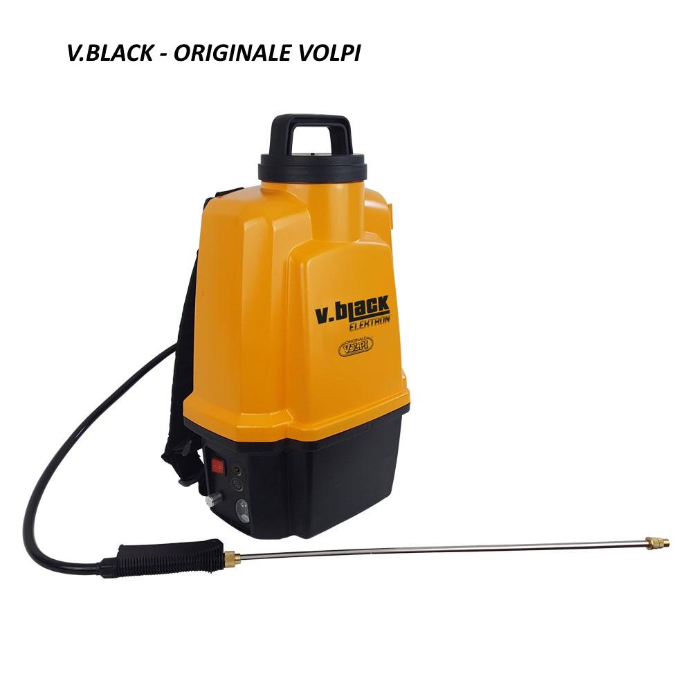 """Pompa elettrica a Spalla 12 lt """"V-BLACK ELEKTRON"""" Volpi - max 5 bar con batteria al Litio"""