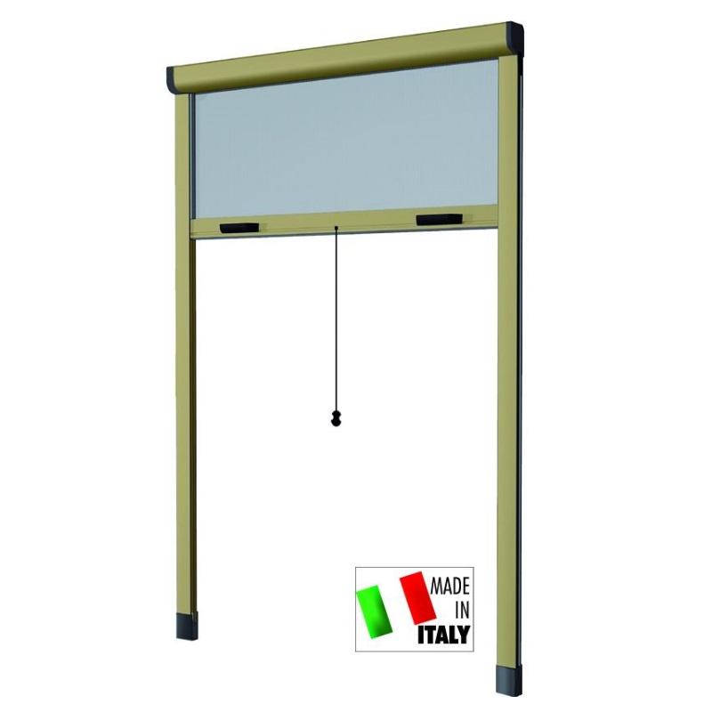 Zanzariere alluminio hu-firma verticale bronzato cm.100x250