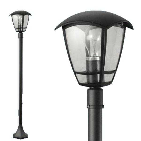 """Lampione """"Selene"""" 1 luce su palo in alluminio"""
