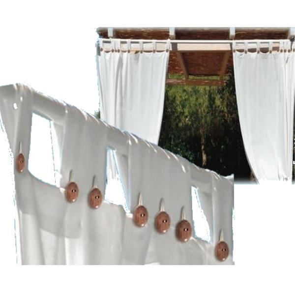 Tenda da sole a bretelle per gazebo Bianche