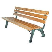 "Panchina da esterno in legno e ghisa Domus ""Strong"" cm. 160 (L) x 39 (P) x 72 (A)"