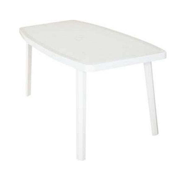 """Tavolo rettangolare in resina con bordi ovali """"Ocean"""" colore Bianco By BICA"""