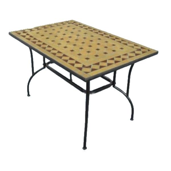 """Tavolo rettangolare in acciaio """"Stilnovo"""" cm. 120 (L) x 80 (P) x 72 (A)"""