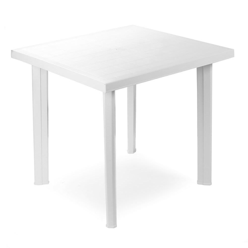 """Tavolo in resina """"Fiocco"""" Bianco cm. 80 (L) x 75 (P) x 72 (A)"""