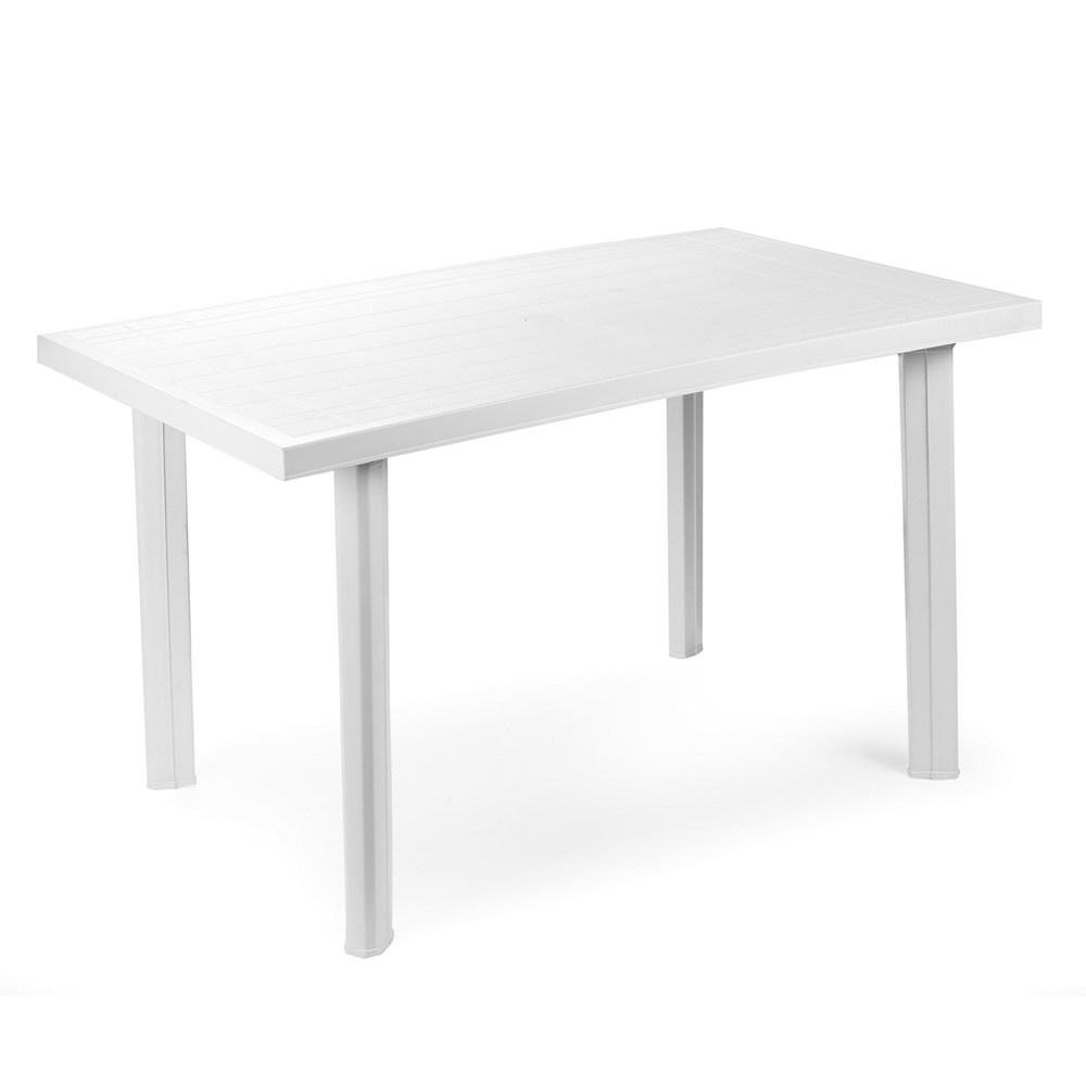 "Tavolo rettangolare da giardino in resina ""Velo"" Bianco Ipaeprogarden"