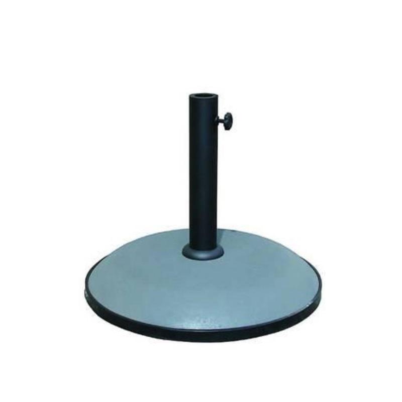 Base ombrellone in cemento grigio antracite