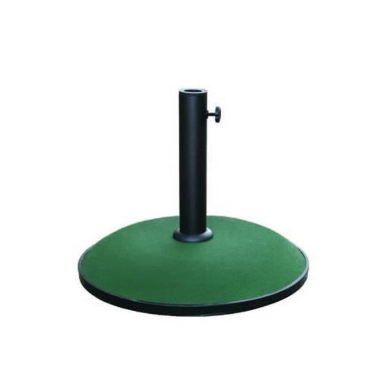 Base ombrellone in cemento verde