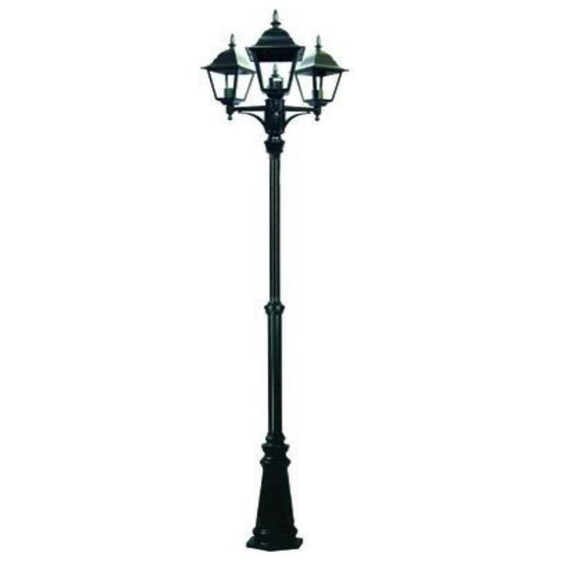 Lampione New York 3 luci su palo