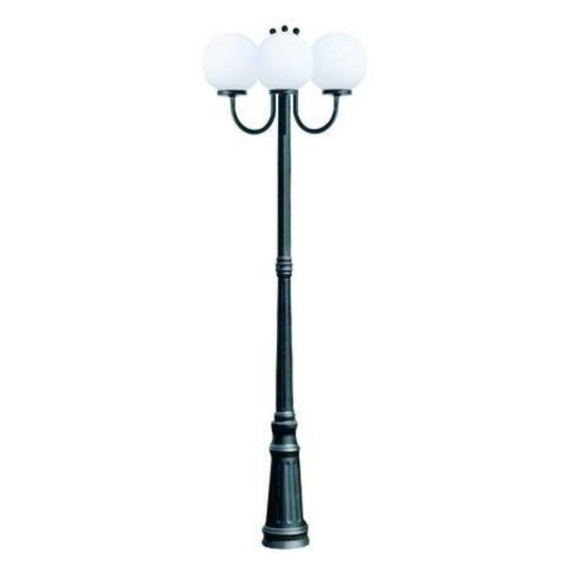 Lampione Sfera 3 luci su palo