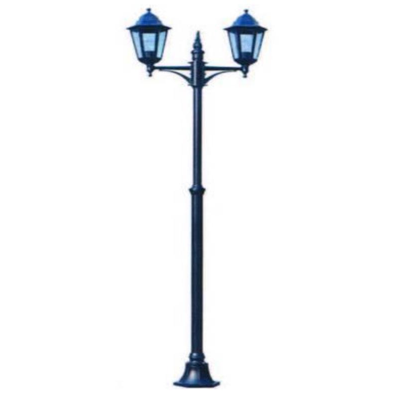 Lampione da esterno Berlino 2 luci su palo