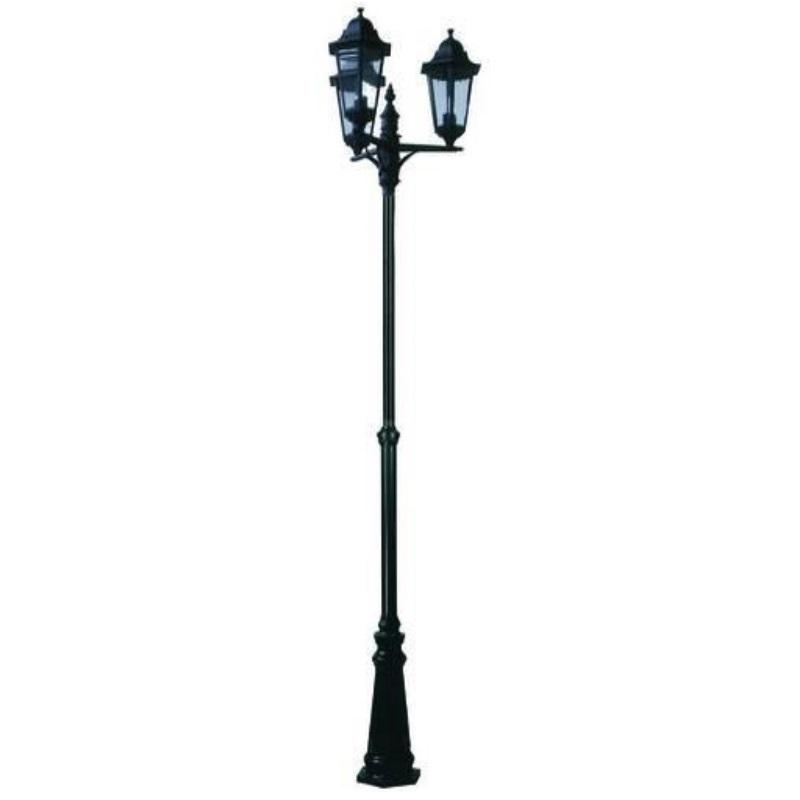 Lampione da esterno Berlino 3 luci su palo