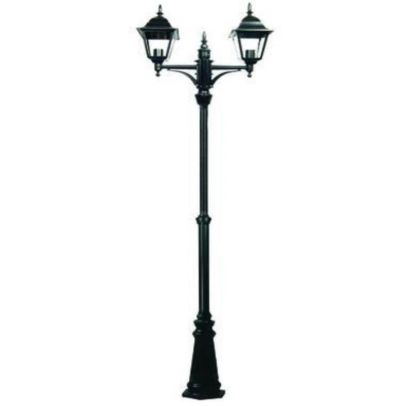 Lampione da esterno New York 2 luci su palo