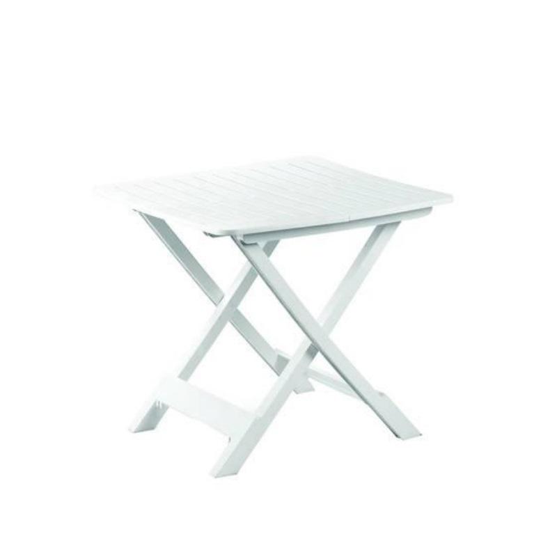 Tavoli Pieghevoli Da Pic Nic.Tavolo Pieghevole Da Giardino In Resina Tevere Bianco Cm 79 X