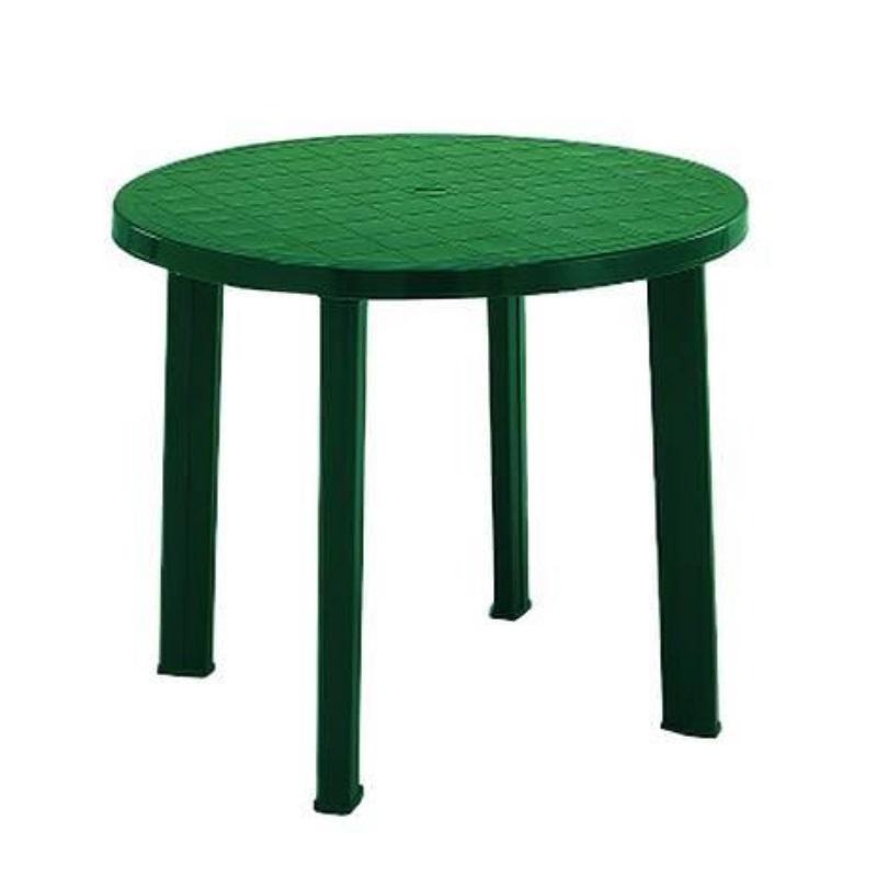 Tavolo Da Giardino Verde.Tavolo Da Giardino Tondo Verde