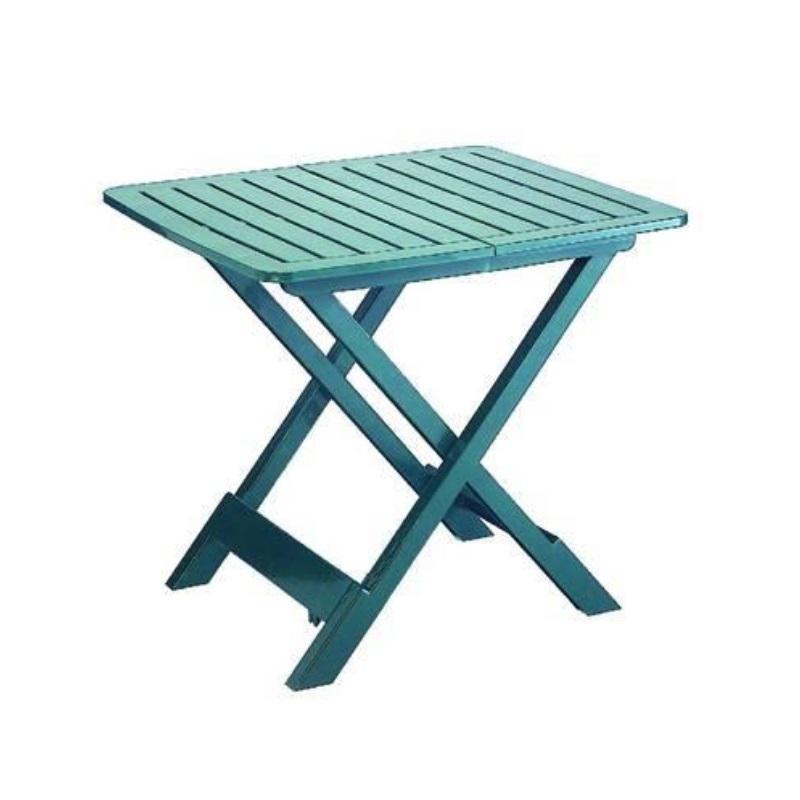Tavoli In Resina Pieghevoli.Tavolo Pieghevole Da Giardino In Resina Tevere Verde Cm 79 X 72 X 70