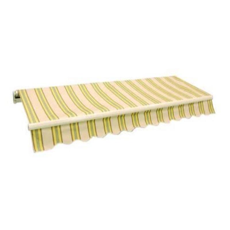 Tenda da sole avvolgibile a sbraccio Righine gialle