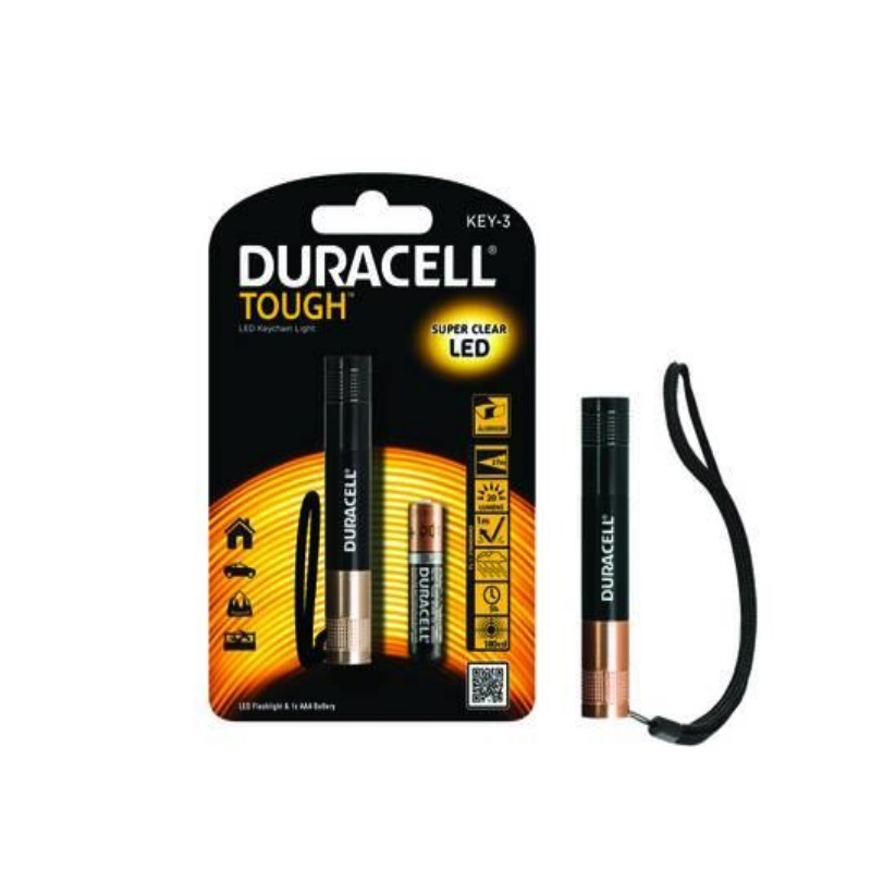 Torcia Led Tough Personal Key-3 DURACELL