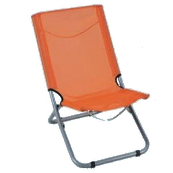 """Sedia da spiaggia """"spiaggina"""" colore Arancio"""