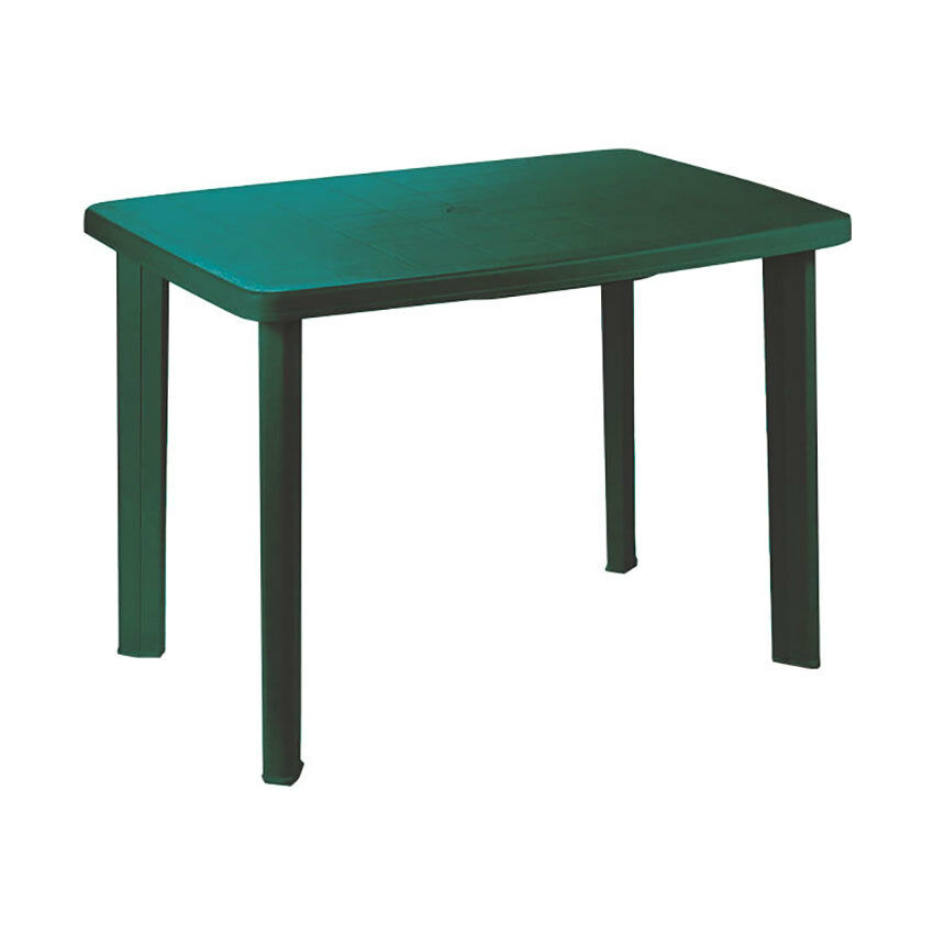"""Tavolo ovale in resina """"Faretto"""" Verde cm. 101 (L) x 68 (P) x 72 (A)"""
