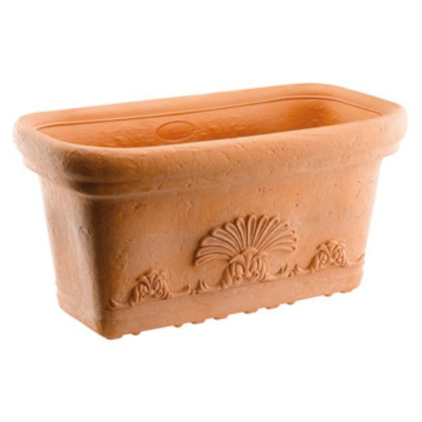 VASO FLORA POTTERY COLLECTION GDM RESINA TERRACOTTA CM. 60 (L) X 30 (P) X 28 (A)