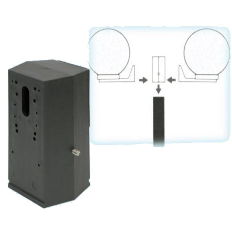 Attacco adattatore due bracci per palo sfere globo