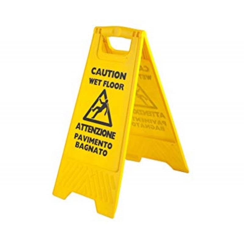 Cartello pericolo a cavalletto pavimento bagnato